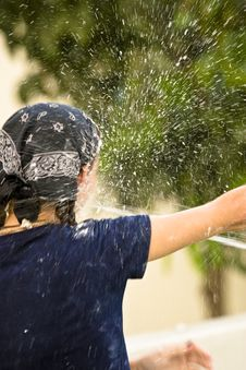 Free Getting Sprayed With Water Stock Photos - 4392433