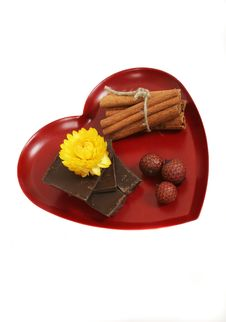 Free Heart And Chocolate Royalty Free Stock Photo - 4392525
