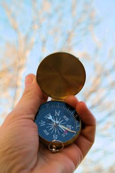 Free Compass Pointing East Stock Image - 4392901
