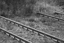 Railroad To Nowhere Stock Photography