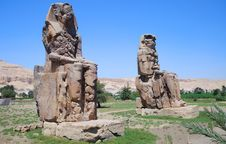 Free Colossi Of Memnon In Egypt Stock Images - 4393124