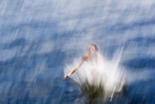 Free A Boy Jumping Into Water (abstract Photo). Stock Images - 4393184