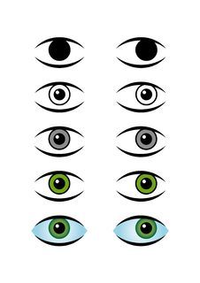 Free Icons Of Green Eye Stock Photo - 4393240