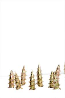 Free Screws Isolated On White Stock Image - 4393281