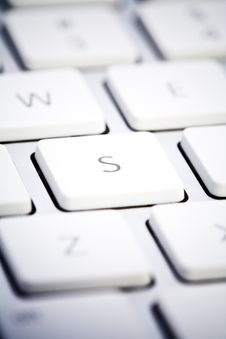 Detail Of A Keyboard Stock Photography