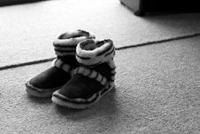 Child S Slippers Royalty Free Stock Photos