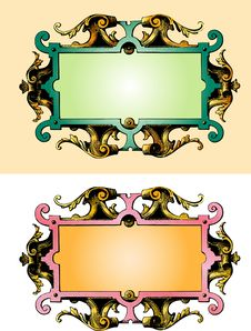 Free Baroque Wooden Frame Royalty Free Stock Photos - 4394238