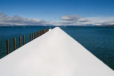 Public Pier On The Lake Royalty Free Stock Photography