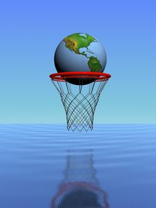 World In The Basket Stock Images