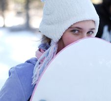Free Girl In Winter Stock Images - 4394774