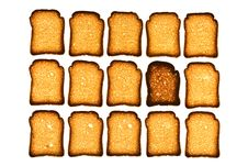 Free Golden Rusk Stock Photography - 4395122