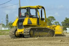 Free A Bulldozer In Action Stock Photography - 4395192