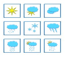 Free Weather Icons Royalty Free Stock Image - 4395386