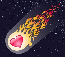 Free Heart In A Flame Flies Royalty Free Stock Images - 4396339