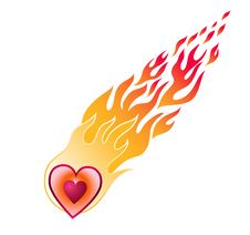 Free Heart In Red Flame Flies Stock Images - 4396344
