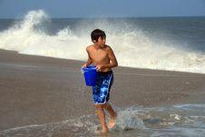 Free Boy Standing On Beach Stock Photos - 4396513