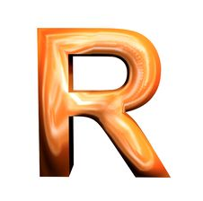 3D Golden Letters Stock Photography