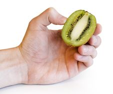 Free Colorful Kiwi Fruit Whole And Cut By Four Pieces Stock Image - 4397361