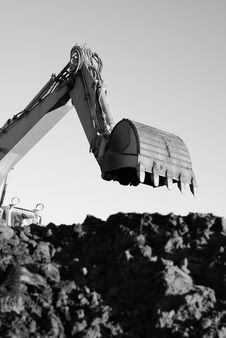 Free Hydraulic Excavator At Work Stock Photo - 4397570