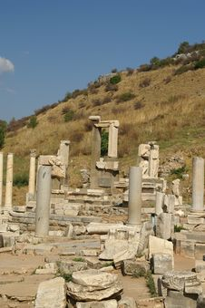 Ancient Ruins In Ephesus Stock Image