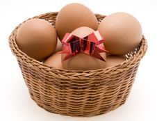 Free Easter Eggs In Basket Stock Photos - 4398213
