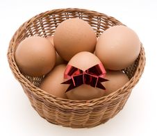 Free Easter Eggs In Basket Royalty Free Stock Image - 4398246
