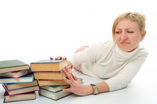 Free Student Woman With Book Stock Photography - 4398832