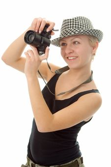 Free Woman With Photo Camera Royalty Free Stock Photography - 4398887