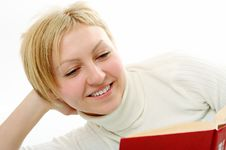 Free Student Woman With Book Stock Images - 4398954
