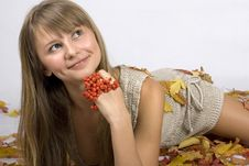 Free Autumn Leaves Girl Royalty Free Stock Photo - 4399195