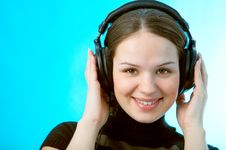 Free Woman With Head Phones Royalty Free Stock Photo - 4399415