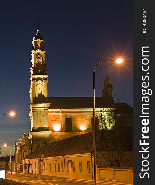 Baroque church, Vilnius