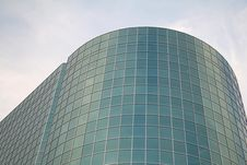 Curved Glass Corporate Building Royalty Free Stock Photography