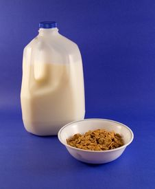 Free Cereal And Milk Stock Photo - 443100