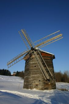 Free A Windmill In Russian Countryside Stock Photos - 443303