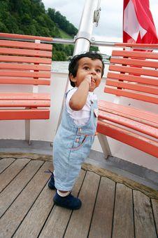 Free KidStanding In Boat Stock Photos - 444343