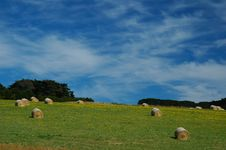 Free Haystacks And Blue Sky Stock Photos - 444543