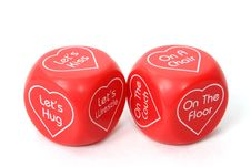 Free Love Dice Over White Stock Image - 444851