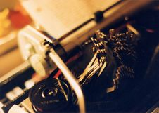 Free Typewriter Jam Royalty Free Stock Image - 446086