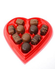 Free Valentine Chocolates Over White Stock Photos - 447013