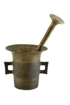 Free Old Mortar And Pestle Royalty Free Stock Photos - 449078