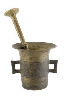 Free Old Mortar And Pestle Royalty Free Stock Images - 449079