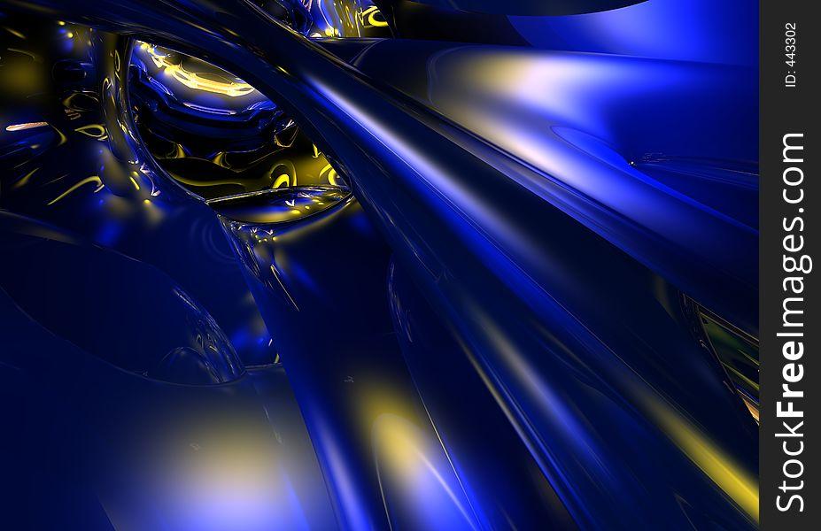 Blue&Golden Wires 01