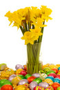 Free Daffodils And Easter Eggs Stock Photos - 4400613