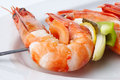 Free Large Shrimps With Vegeables Stock Photo - 4402050