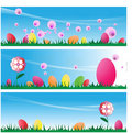 Free Easter Eggs On Grass Stock Image - 4402421