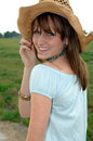 Free Friendly Young Cowgirl Stock Images - 4403714