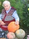 Free Granny And Pumpkin Royalty Free Stock Photo - 4404675
