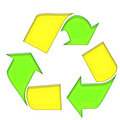 Free Green Yellow Recycle Symbol Stock Image - 4406311