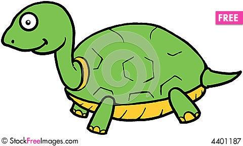 Cute Turtle Cartoon Illustration  Free Stock Images  Photos